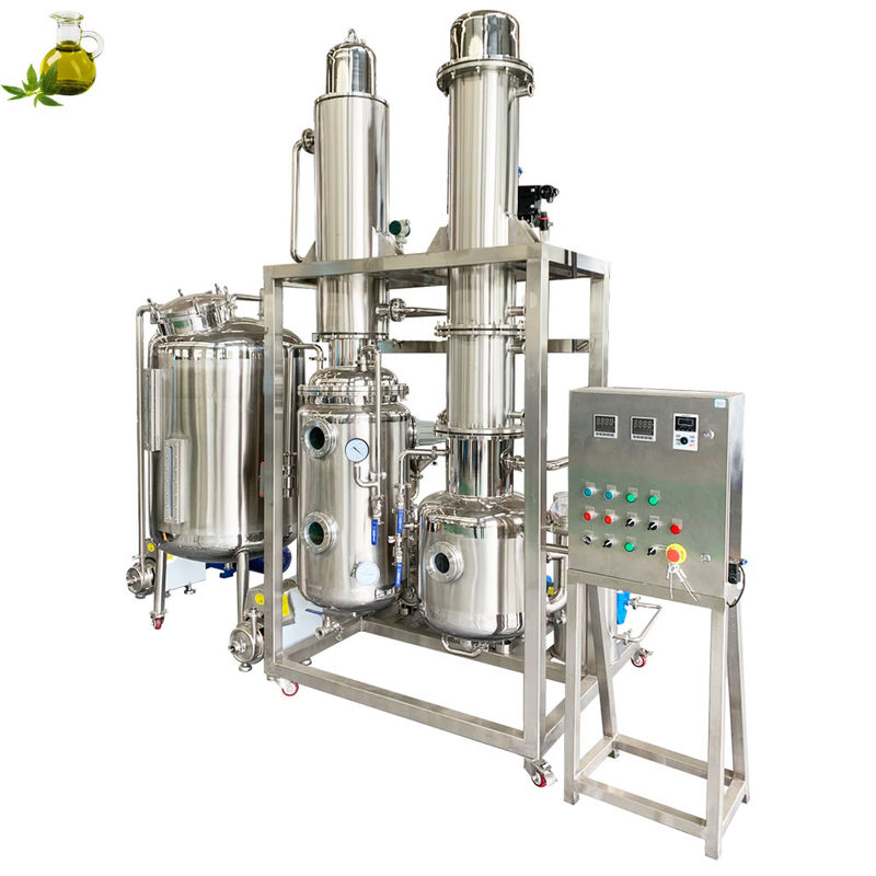 Industrial Low Temperature Ethanol Extraction Machine / Herbal Oil Extraction Line
